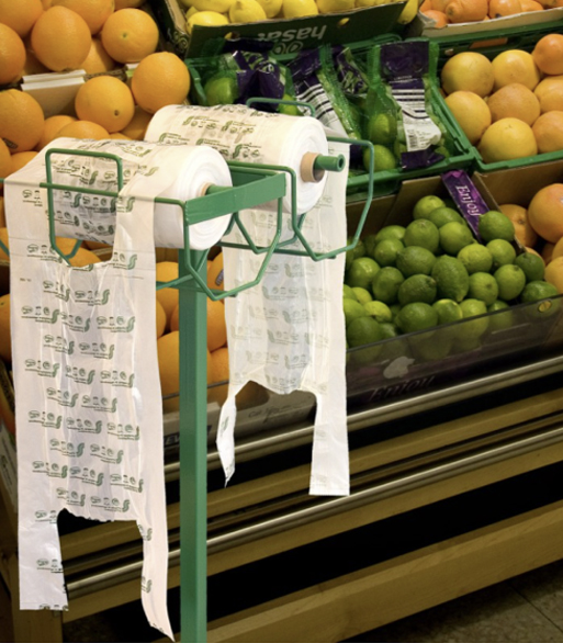 fruit and veg bags in market