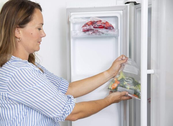 freezer bags being used