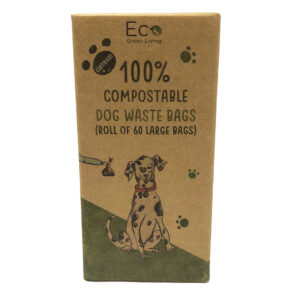 compostable dog bags front
